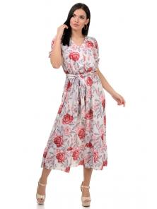 Платье «Даяна», р-ры S-ХL, арт.373 розы