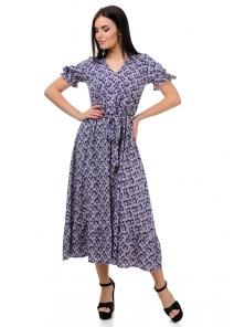 Платье «Даяна», р-ры S-ХL, арт.373 синий-розовый
