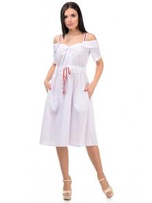 Платье «Марита», р-ры S-ХL, арт.374 белый