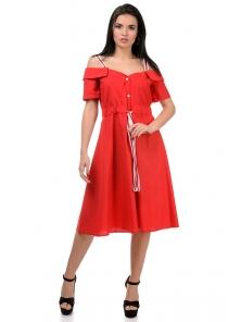 Платье «Марита», р-ры S-ХL, арт.374 красный