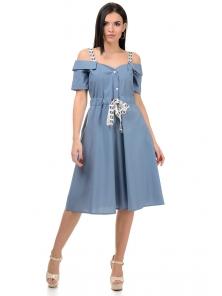 Платье «Марита», р-ры S-ХL, арт.374 серый