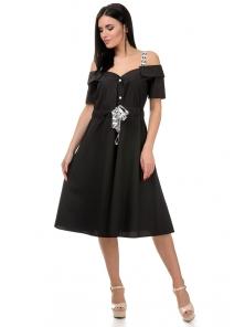 Платье «Марита», р-ры S-ХL, арт.374 черный