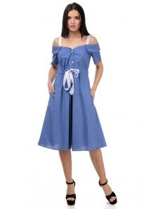 Платье «Марита», р-ры S-ХL, арт.420 джинс