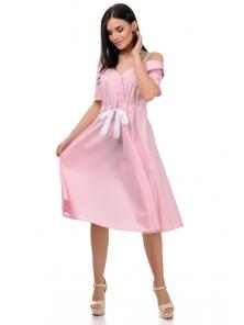 Платье «Марита», р-ры S-ХL, арт.375 розовый