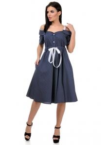 Платье «Марита», р-ры S-ХL, арт.420 синий
