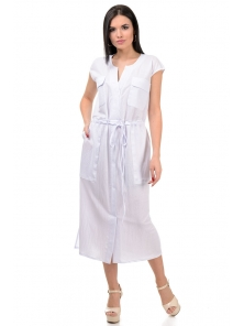 Платье «Кармэлла», р-ры S-ХL, арт.377 белый