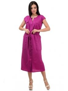 Платье «Кармэлла», р-ры S-ХL, арт.377 фуксия