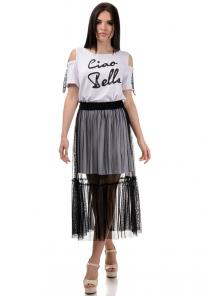 Платье «Белла», р-ры S-ХL, арт.379 белый