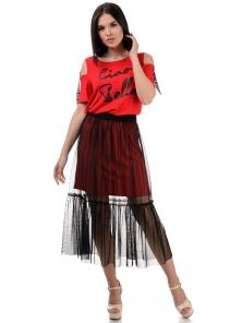 Платье «Белла», р-ры S-ХL, арт.379 красный