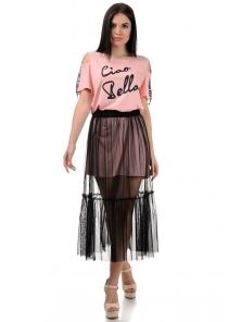 Платье «Белла», р-ры S-ХL, арт.379 персик