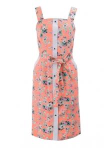 Платье «Мэйси цветок», р-ры S-ХL, арт.391 оранжевый