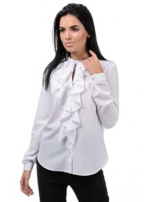 Блуза «Мишель», р-ры S-ХL, арт.393 белый