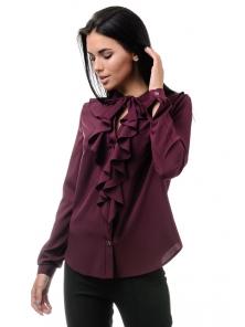 Блуза «Мишель», р-ры S-ХL, арт.393 бордо