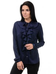 Блуза «Мишель», р-ры S-ХL, арт.393 синий