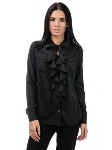 Блуза «Мишель», р-ры S-ХL, арт.393 черный