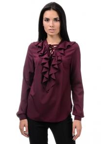 Блуза «Холли», р-ры S-ХL, арт.394 бордо