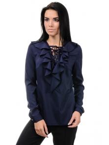 Блуза «Холли», р-ры S-ХL, арт.394 синий