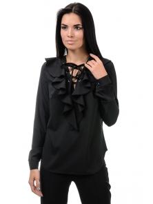 Блуза «Холли», р-ры S-ХL, арт.394 черный
