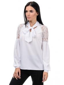 Блуза «Грейс», р-ры S-ХL, арт.397 белый