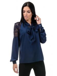 Блуза «Грейс», р-ры S-ХL, арт.397 синий