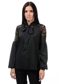 Блуза «Грейс», р-ры S-ХL, арт.397 черный