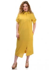 Платье «Андрэа», р-ры ХL-ХХХL, арт.399 горчица