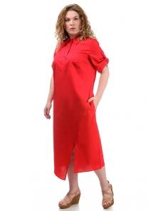 Платье «Андрэа», р-ры ХL-ХХХL, арт.399 красный