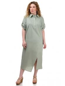 Платье «Андрэа», р-ры ХL-ХХХL, арт.399 оливка
