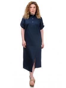 Платье «Андрэа», р-ры ХL-ХХХL, арт.399 синий