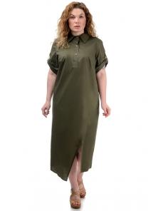 Платье «Андрэа», р-ры ХL-ХХХL, арт.399 хаки