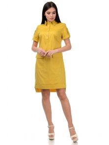 Платье «Пола», р-ры S-ХL, арт.400 горчица