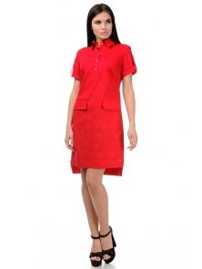 Платье «Пола», р-ры S-ХL, арт.400 красный