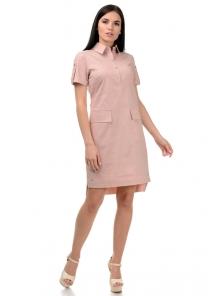 Платье «Пола», р-ры S-ХL, арт.400 пудра