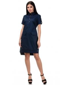 Платье «Пола», р-ры S-ХL, арт.400 синий