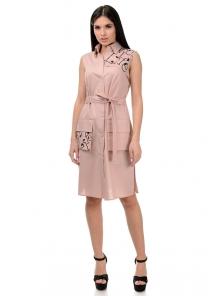 Платье «Рарити», р-ры S-ХL, арт.401 пудра