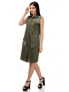 Платье «Рарити», р-ры S-ХL, арт.401 хаки