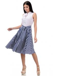 Платье «Тиара», р-ры S-ХL, арт.403 белый-синий