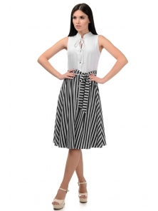 Платье «Тиара», р-ры S-ХL, арт.403 белый-черный