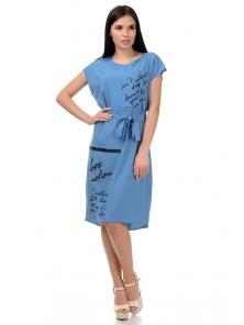 Платье «Энджи», р-ры S-ХL, арт.404 джинс
