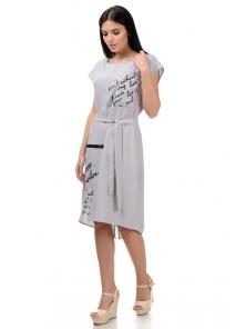 Платье «Энджи», р-ры S-ХL, арт.404 серый
