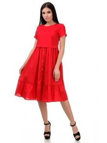 Платье «Анфиса», р-ры S-ХL, арт.405 красный