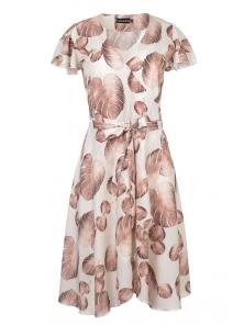 Платье «Катарина», р-ры S-ХL, арт.406 папоротник беж