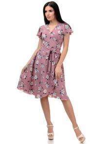 Платье «Катарина», р-ры S-ХL, арт.406 яблоня фрез