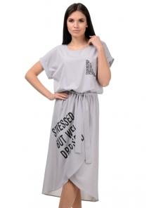 Платье «Гилда», р-ры S-L, арт.407 серый