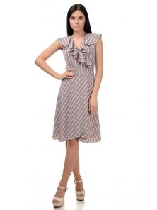 Платье «Блум», р-ры S-ХL, арт.408 полоска беж
