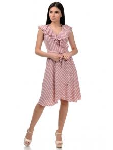 Платье «Блум», р-ры S-ХL, арт.408 полоска фрез