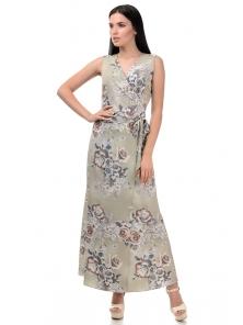 Топ и юбка «Вики», р-ры S-L, арт.409 розы оливка