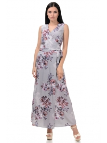 Топ и юбка «Вики», р-ры S-L, арт.409 розы серый
