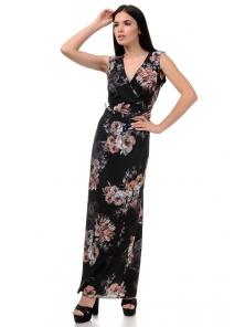 Топ и юбка «Вики», р-ры S-L, арт.409 розы черный
