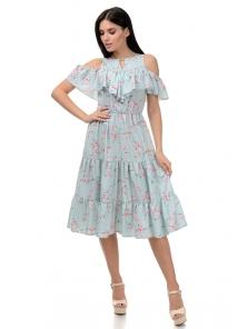 Платье «Джоди», р-ры S-ХL, арт.413 яблоня мята